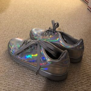 Holographic Rainbow Sneakers